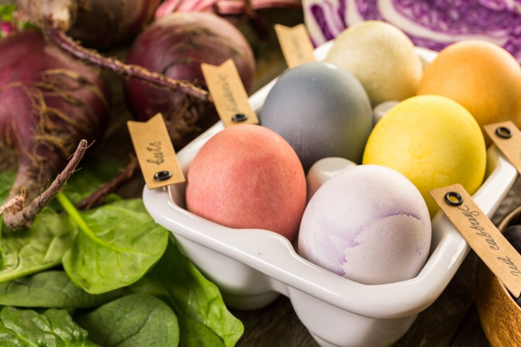 Naturally Dye Easter Eggs with Fruits and Veggies